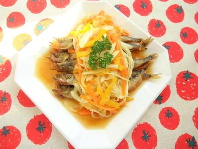 野菜たっぷりシシャモの南蛮漬け~カレー風味~.JPG